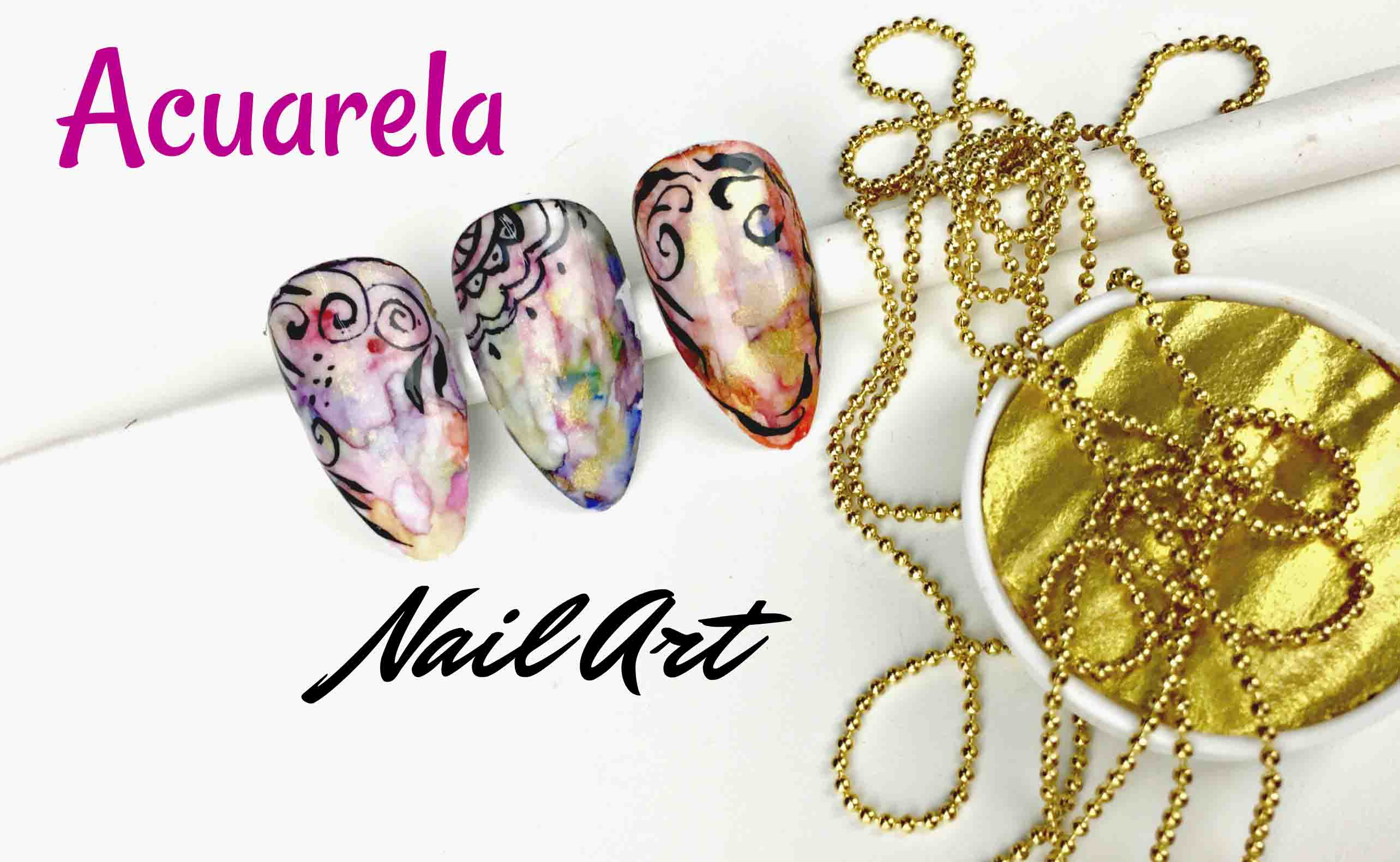 Acuarela Nail Art – Tutorial