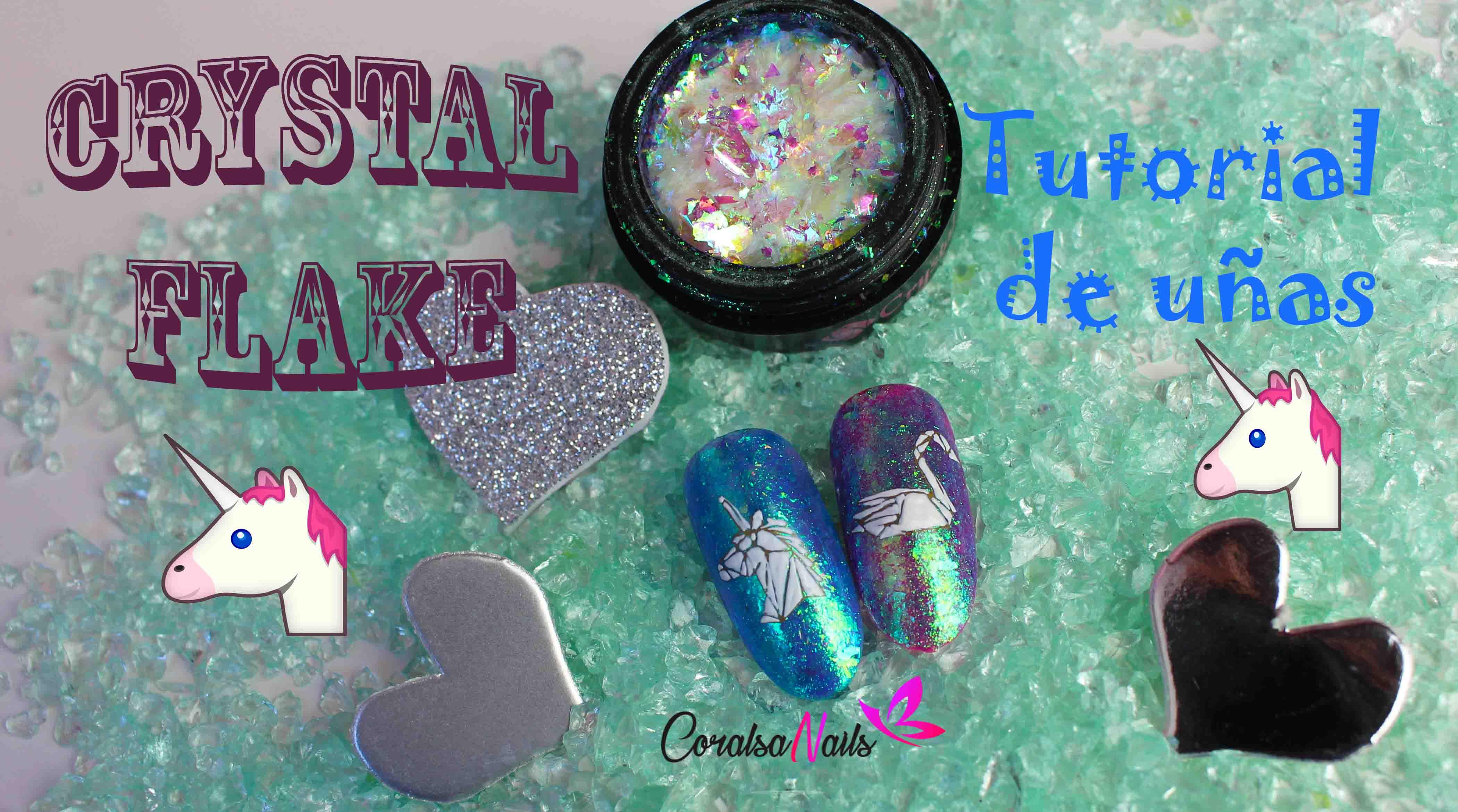 Crystal Flake y Diseño Unicornio