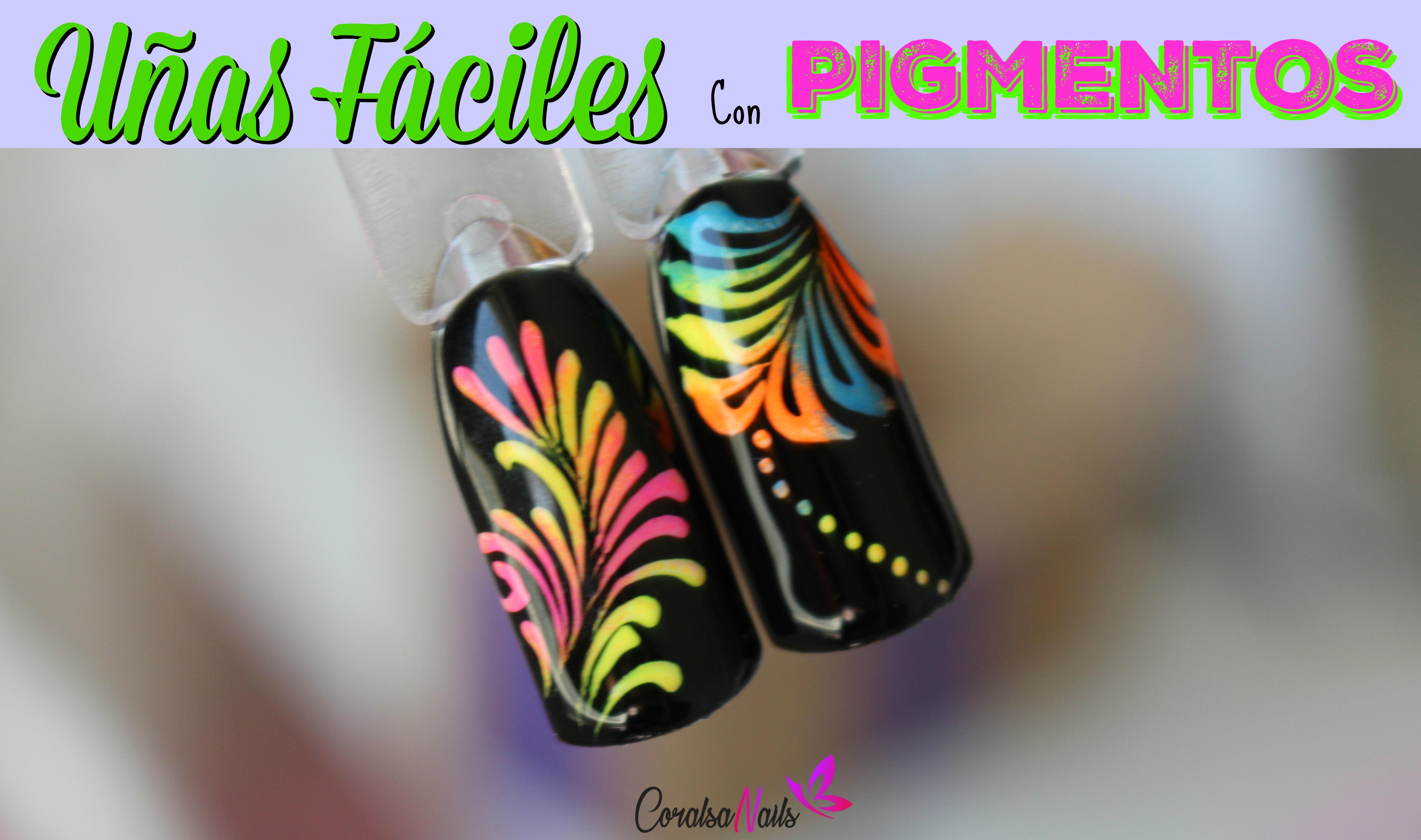 Diseños de Uñas Fáciles con Pigmentos