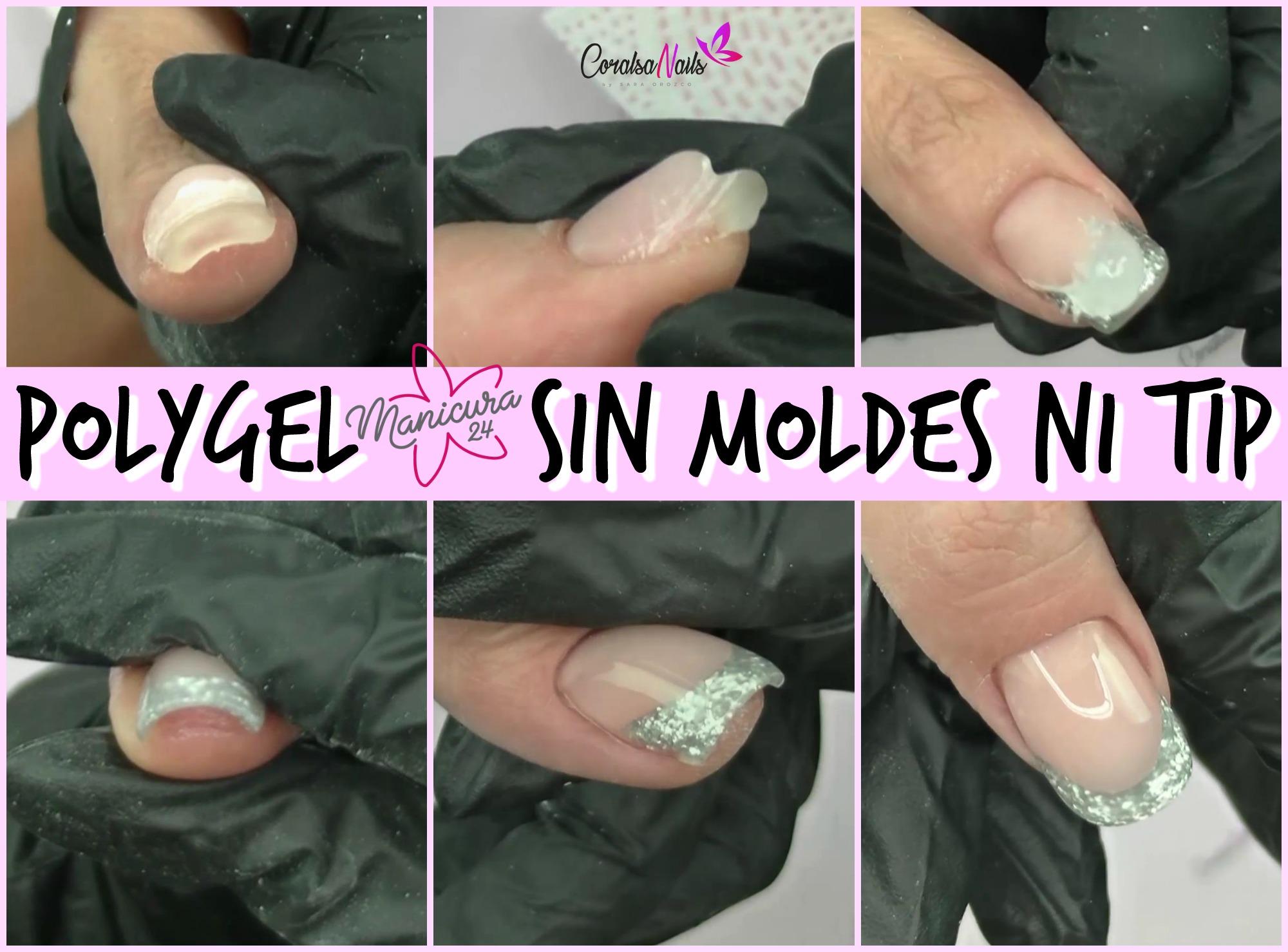 Polygel, Como alargar uñas sin Moldes ni Tip