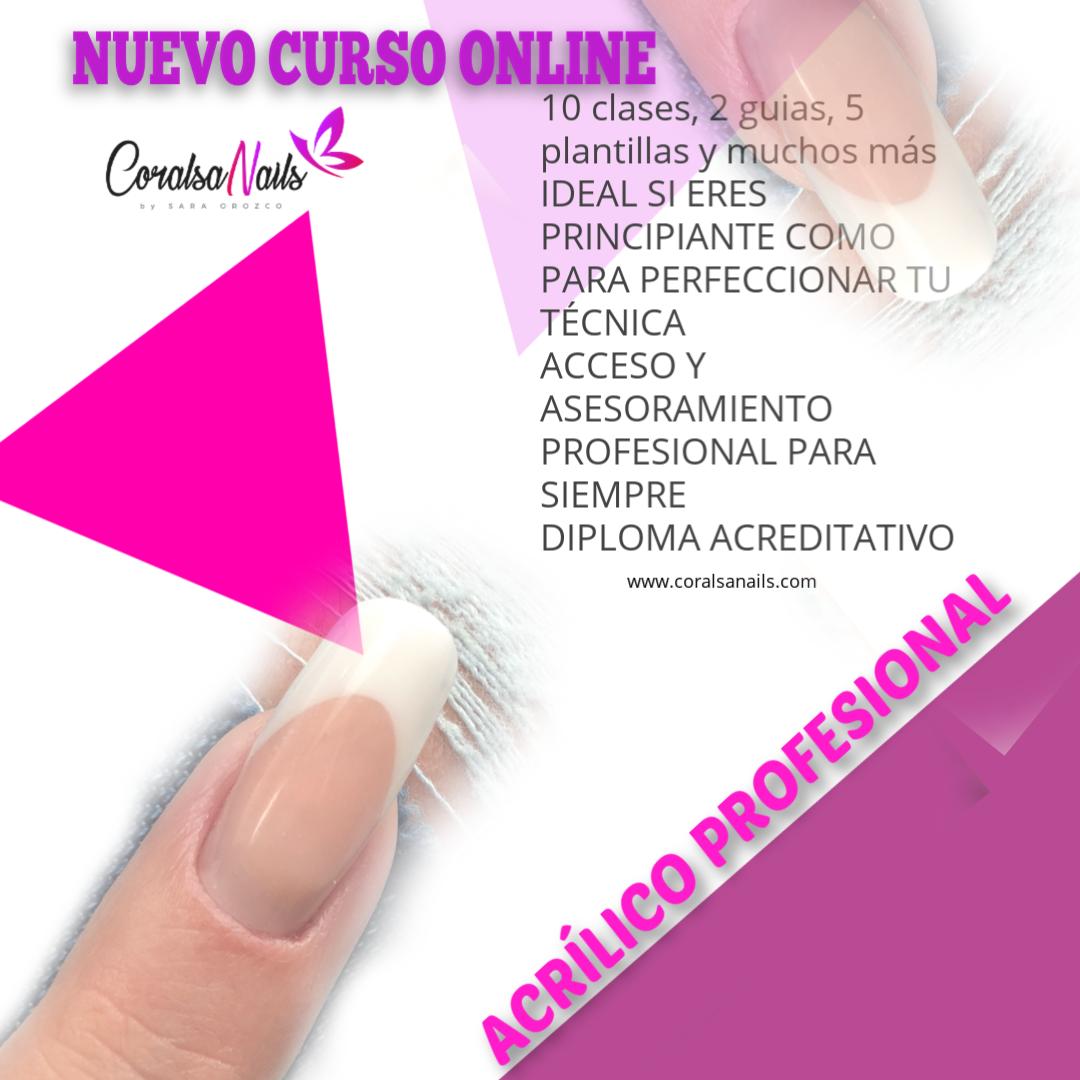 Nuevo Curso Online Acrílico Profesional