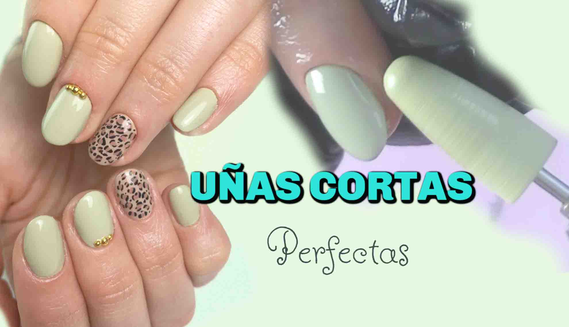 Uñas cortas decoradas. Tendencias 2019